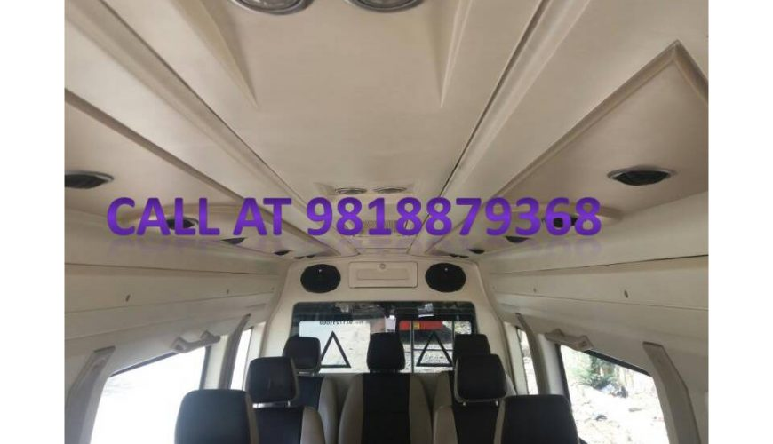 9 seater on rent in delhi