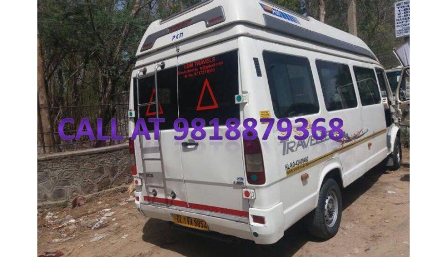 9 seater tempo traveller in gurgaon