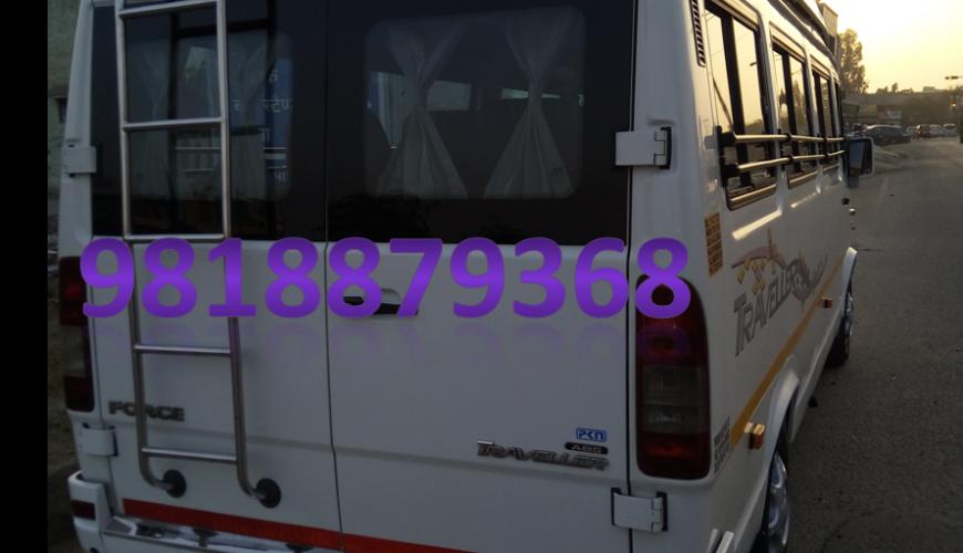 tempo traveller 15 seater in delhi
